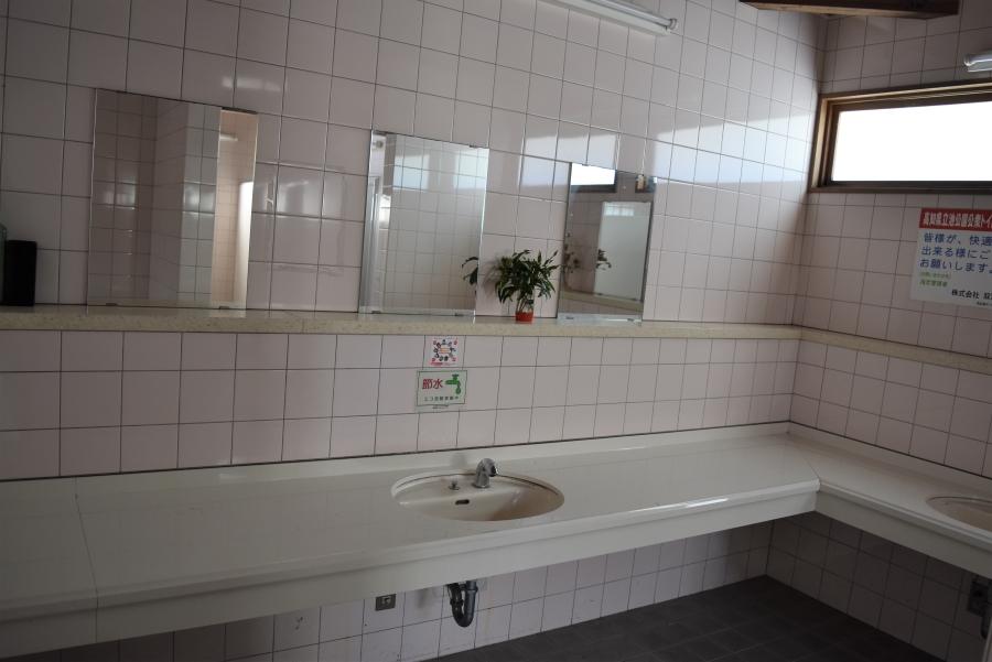洗面台も清潔に保たれています