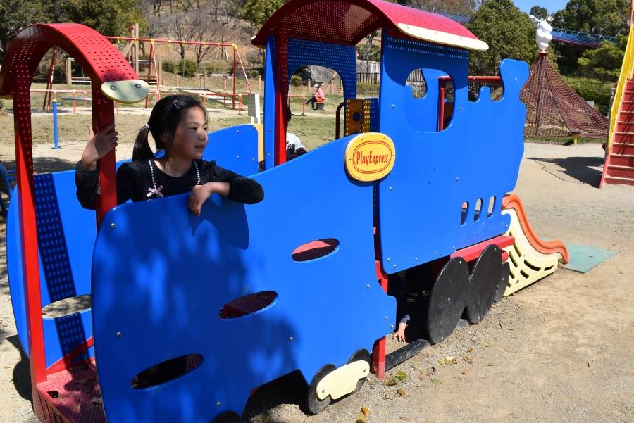 機関車型の遊具