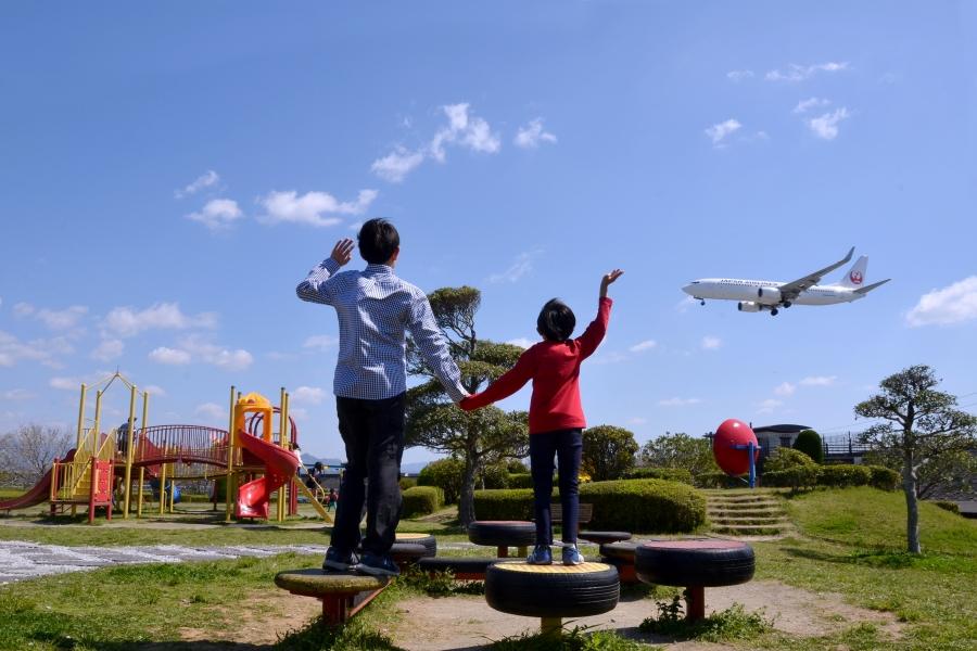 トリム広場 高知龍馬空港に近く、飛行機の離発着を見学できます