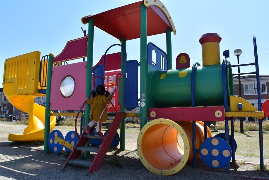 機関車形のアスレチック