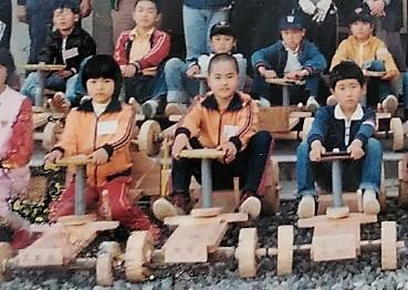 昭和50年代に作られていたゴーカート(工石山青少年の家提供)