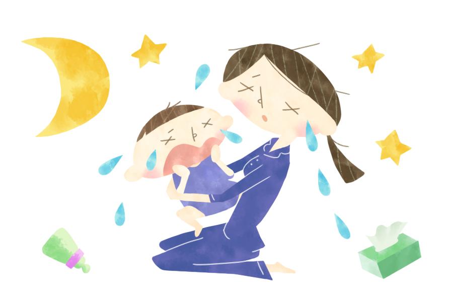 寝られない、抱っこしっぱなし…|ココハレ広場③「夜泣きはつらいよ」