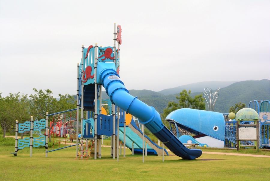 高知県立室戸広域公園ちびっこ広場(たこたこ公園) タコの遊具がリニューアル!高知県東部・室戸市にある大規模公園