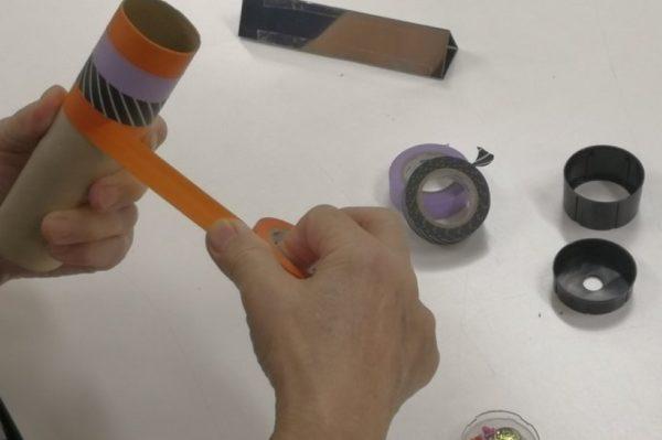 親子でキラキラの万華鏡作りに挑戦|高知市のりょうまスタジアムで工作教室「ハロウィン万華鏡を作ろう!」