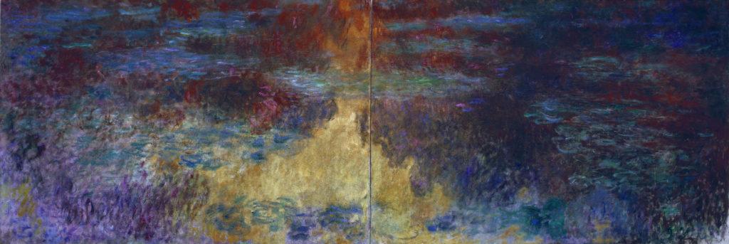 クロード・モネの大作「睡蓮の池、夕暮れ」
