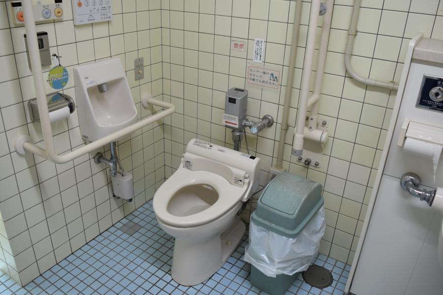 どうぶつ科学館横の多目的トイレ