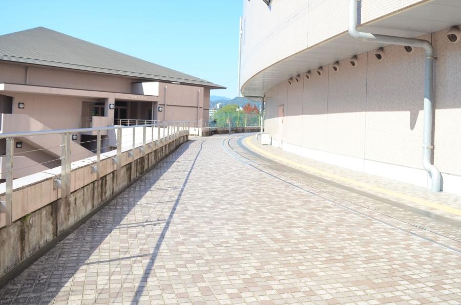 左に曲がり、この通路を真っすぐ進みます