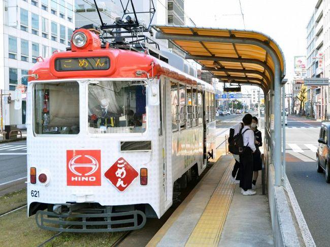 新型コロナで利用者が減っている路面電車(高知市内)