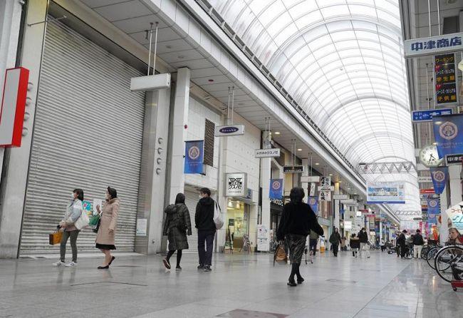 新型コロナウイルスの影響もあり空き店舗率が上昇した高知市の中心商店街(同市帯屋町1丁目)
