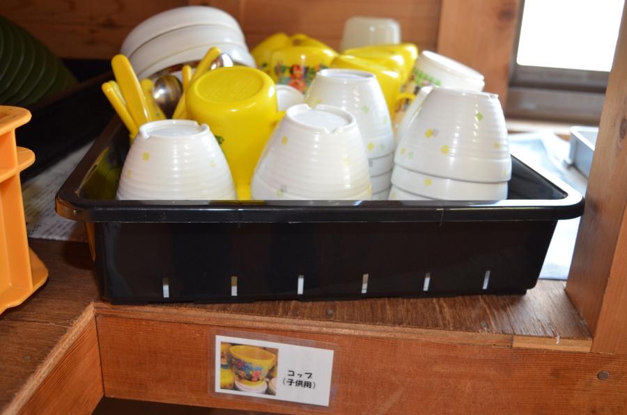 子ども用の食器も使えます