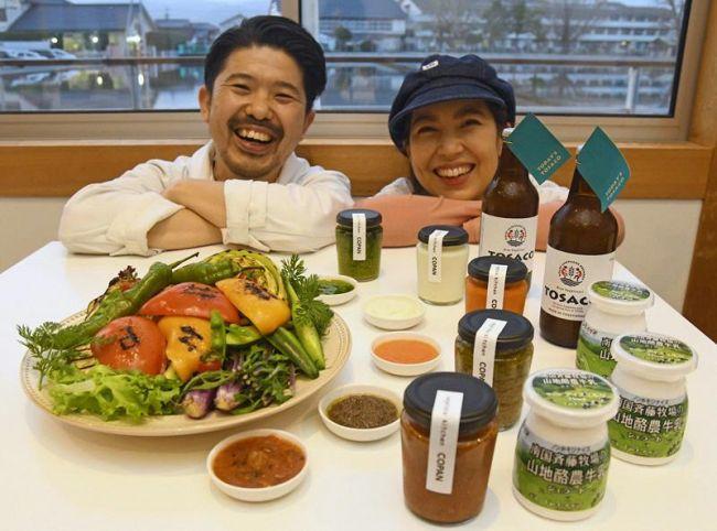 野菜を使ったソースで最高賞を獲得した岡林夫妻(南国市下末松の「畑の食堂 Copan」)