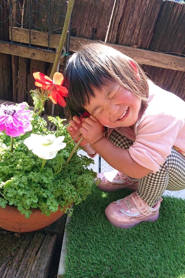大好きなお花と寄り添いました