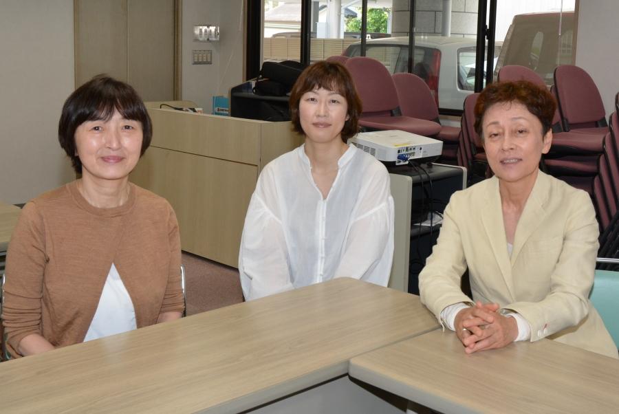 (右から)広末ゆかさん、筒井久美さん、久保美樹さん