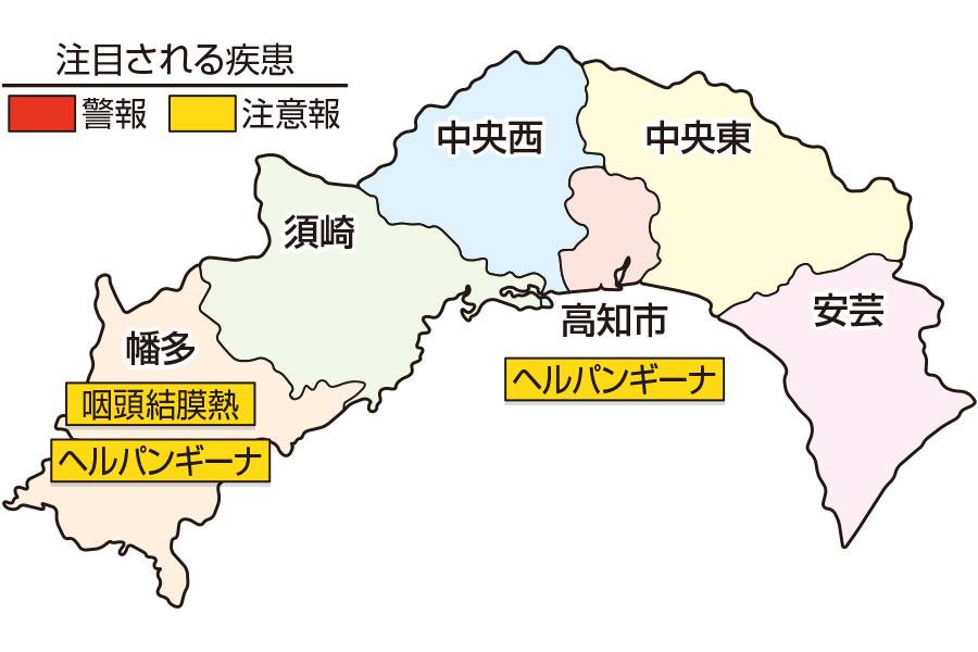 咽頭結膜熱、RSウイルス感染症が増えています|高知県の感染症情報( 2021年6月14~20日 )
