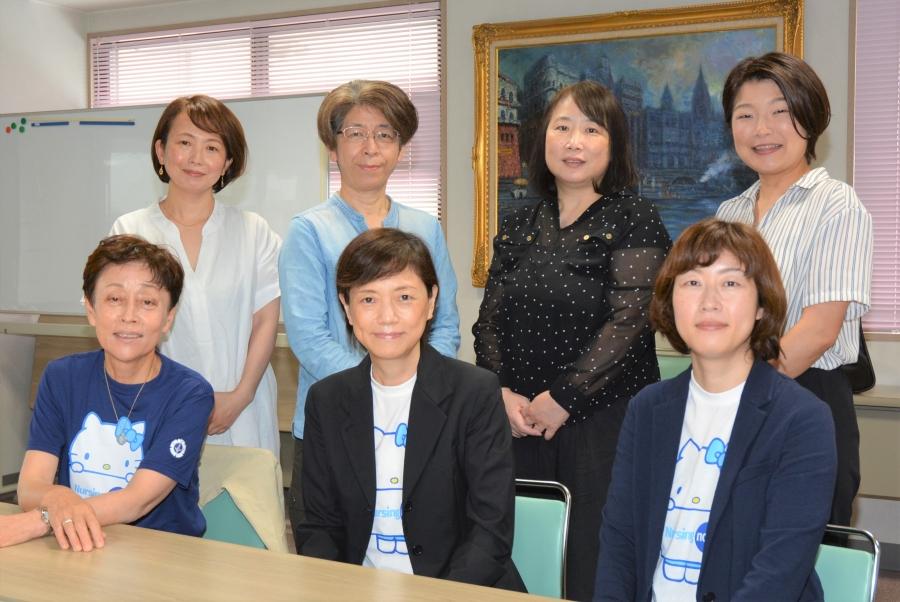 (前列左から)広末ゆかさん、関正節さん、筒井久美さん、(後列左から)山本明子さん、岩崎美幸さん、宗崎由香さん、岡崎優子さん