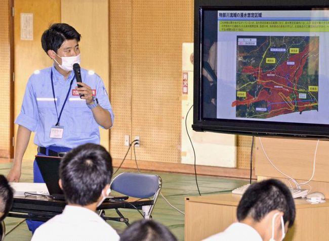 物部川流域の治水や水害を学んだ防災学習(南国市立田の香南中学校)
