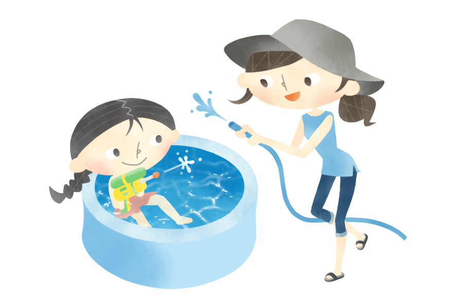 夏のおうち時間テッパンはお庭プール!お手伝いを活用して楽しい時間に!|ココハレ広場⑰「夏休み、ここが大変!」